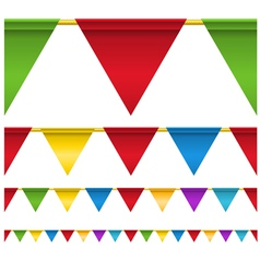 Triangle Flag Banners vector image