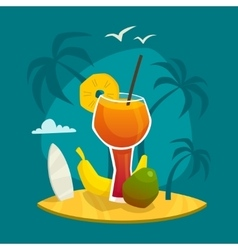Tropical Juice Concept vector image