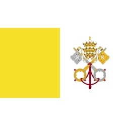Vatican city flag image vector