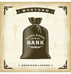 Vintage Western Money Bag vector