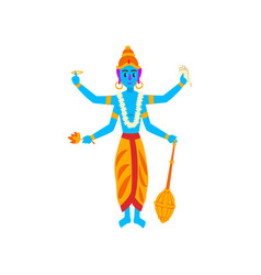vishnu indian god guardian universe vector image