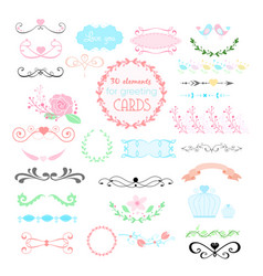 wedding graphic set arrows vector image