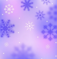 Winter Wallpaper with Snowflakes Blurred Banner vector image