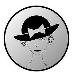 Women button vector image