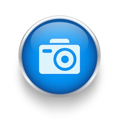 Blue photo icon vector image vector image