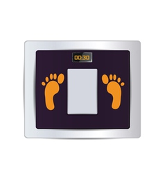 body fat scale isolated vector image