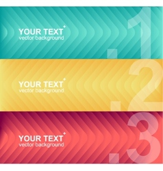 colorful text boxes infographics vector image vector image