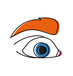 eye pop art cartoon vector image vector image