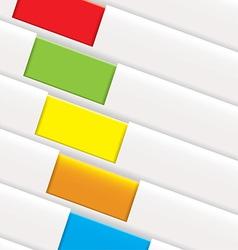 Folder tag background vector image vector image