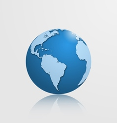 globe with south america vector image vector image