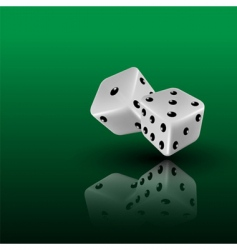 3d dice vector image vector image