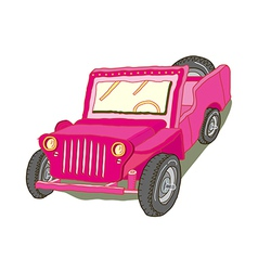 A jeep is parked vector image vector image