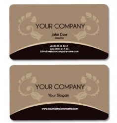 business card brown vector image
