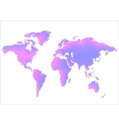 Creative World Map vector image vector image