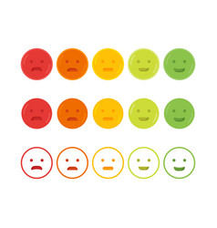 feedback emoticon emoji smile icon vector image