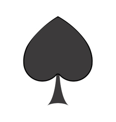Isolated spade of card game design vector image