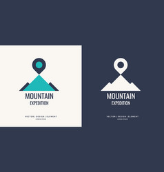 Logo and sign for hiking vector