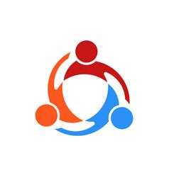 three people swirl logo vector image