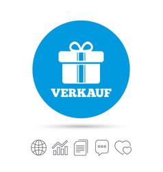 Verkauf - sale in german sign icon gift vector