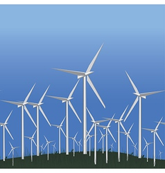 Wind Alternative energy station vector image