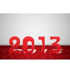 2013 year card vector image
