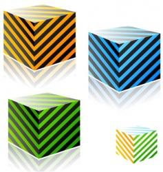 stripe bricks vector image