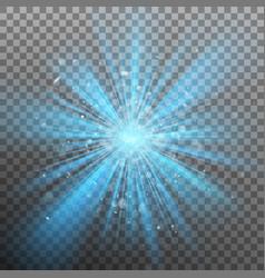 blue burst color forces light eps 10 vector image
