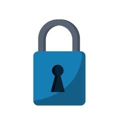 blue padlock lock secure digital vector image vector image