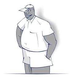cartoon boy smile vector image vector image