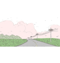 country road landscape vector image