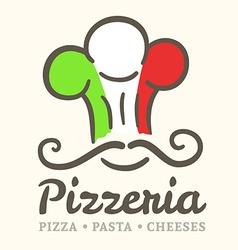 Pizzeria icon vector image