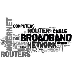 what is a broadband router text word cloud concept vector image