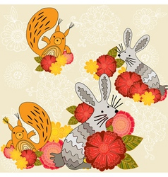 wild animal pattern vector image