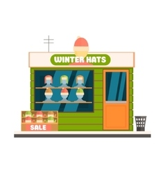 Winter Hats Store Front vector image