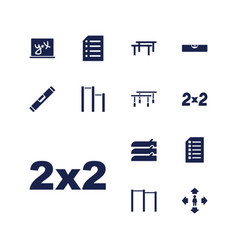 13 horizontal icons vector