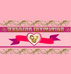 A wedding invitation card for a wedding with a vector