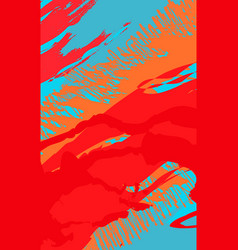 abstract background with brush strokes in memphis vector image