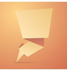 Abstract origami speech bubble vector image