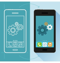 app development concept in flat style vector image