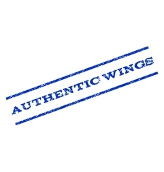 Authentic Wings Watermark Stamp vector image