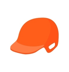 Baseball helmet cartoon icon vector image