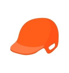 Baseball helmet cartoon icon vector image