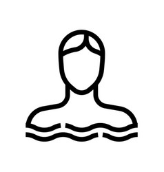bathing woman spa salon line icon vector image