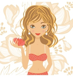 Beautiful girl in lingerie vector image