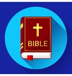 Bible icon with long shadow vector