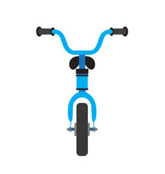 bicycle front view vector image