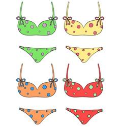 Bikini set vector