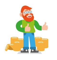 bitcoin miner vector image