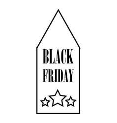 Black Friday sale tag icon outline style vector