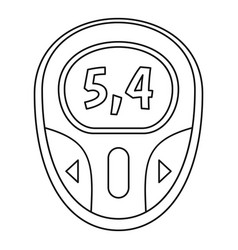 blood glucose meter icon outline style vector image